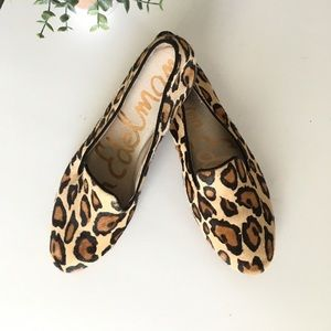 Sam Edelman Jordy Calf-hair Leopard Loafers